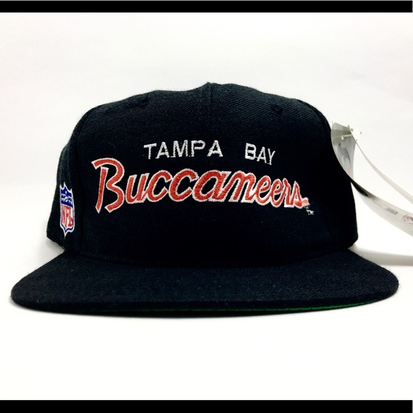 f667ee90c Vintage Tampa Bay Buccaneers SS Script Snapback Boutique